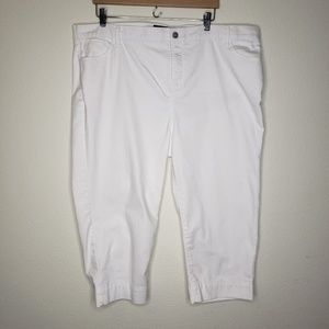 NYDJ Not Your Daughter's Jeans White Capris
